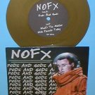 "NOFX pods and gods 7"" GOLD Vinyl Record"
