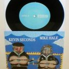 "KEVIN SECONDS / MIKE HALE splt 7"" Record Blk Vinyl gunmoll in the red 7 seconds"