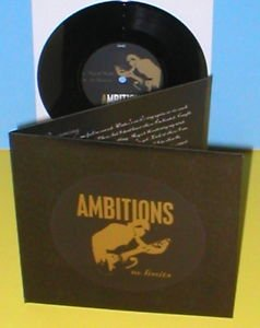 """AMBITIONS no limits ep 7"""" Record Vinyl HARDCORE with honor shai hulud"""