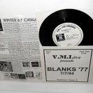 """BLANKS 77 live at the fireside bowl 7"""" Vinyl Record vml live 07/07/1994"""