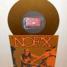 "NOFX zyclone b bath house 7"" GOLD VINYL Record fat wreck chords , fat club"