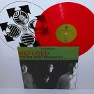 "REFUSED the new noise theology ep 12"" Record RED Vinyl with insert"