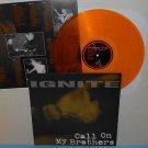 IGNITE call on my brothers Lp Record GOLD Vinyl with lyrics insert