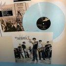 THURSDAY five stories falling Lp BABY BLUE Vinyl w/ETCHING of Jet Black lyrics