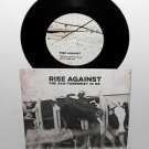 "RISE AGAINST the eco-terrorist , about damn time 7"" Vinyl Record w/ will potter"
