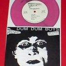 "DUM DUM BOYS do it 7"" Record PINK Marbled Vinyl 1990 original OOP mystic records"