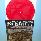 """INTEGRITY we are the end , beneath 7"""" Record RED Vinyl , with Etched pic"""