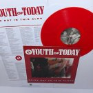 YOUTH OF TODAY we're not in this alone Lp RED Vinyl with lyrics insert , shelter
