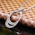 NEW HANDMADE Lady Women's FASHION GIFT Elegant Alloy AAA CZ Pendant Necklace-Q