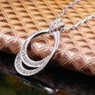 NEW HANDMADE Lady Women's FASHION GIFT Elegant Alloy AAA CZ Pendant Necklace-Q