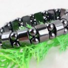 NEW HOT FASHION Black Magnetic Hematite Beads men's & women's Bracelet GIFT-O