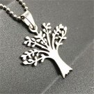 Fashion  Lucky Tree Silver 316L Stainless Steel Titanium Pendant Necklace NEW -P