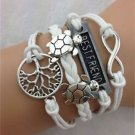 WOMEN'S HOT NEW FASHION Retro Infinity Tortoise Tree Leather Charm Bracelet-G