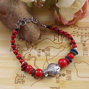 Women's Fashion Jewelry Gift Tibet jade turquoise bead bracelet F-9
