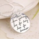 WOMEN'S FASHION Learn From Yesterday Live For Today Hope For Tomorrow Necklace-O