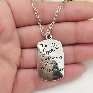 Love between mother and daughter one Pendant Necklace-D