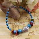 Women's Fashion Jewelry Gift Tibet jade turquoise bead bracelet F-15