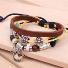 PRINCESS Jewelry Fashion Infinity Leather Charm Bracelet Silver Beads Style-H