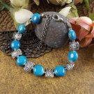 New Tibet silver multicolor jade turquoise bead bracelet-Q