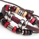 NEW Jewelry Fashion Infinity Leather Charm Bracelet Silver lots Beads Style-R