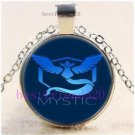 Pokemon Team Mystic Cabochon Glass Tibet Silver Chain Pendant Necklace-E
