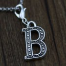 1 PC  GIFT hot sell B dangle Floating Charm for Glass Memory Locket necklace-T