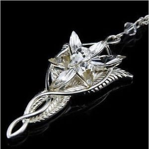 Lord of the Rings Movie Elves Princess Arwen EVENSTAR Dragon Silver Necklace - O