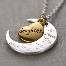 "DAUGHTER  ""I Love You To The Moon and Back"" NEW HOT FASHION Pendant Necklace-O"