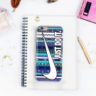 Nike Just Do It on Aztec Blue for iphone 6 case, iPhone 6 cover, iPhone 6 accsesories