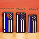 A Thin Blue Line USA American Flag for iphone 6 case, iPhone 5 case, iPhone 7 case, iphone 4 case