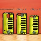 Jeep Wrangler yellow for iphone 6 case, iPhone 5 case, iPhone 7 case, iphone 4 case