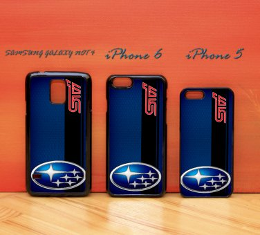 Subaru STI on a field of simulated for iphone 6 case, iPhone 5 case, iPhone 7 case, iphone 4 case