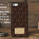 Michael Kors Black MK Brown for iphone 6 case, iPhone 5 case, iPhone 7 case, iphone 4 case