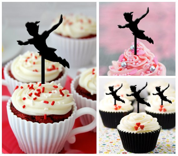 Cp33 cupcake toppers peter pan Package : 10 pcs