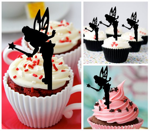 Cp34 cupcake toppers tinkerbell Package : 10 pcs