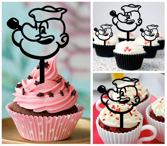 Cp42 cupcake toppers popeye Package : 10 pcs