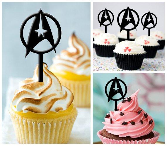 Cp100 cupcake toppers star trek Package : 10 pcs