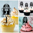 Cp101 cupcake toppers R2-D2 star wars Package : 10 pcs
