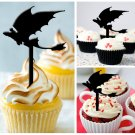 Cp119 cupcake toppers how to train your dragon Package : 10 pcs