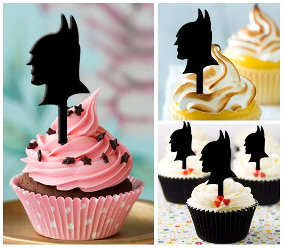 Cp135 cupcake toppers batman the dark knight Package : 10 pcs