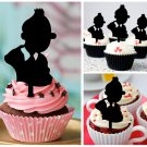 Cp160 cupcake toppers the adventures of tintin Package : 10 pcs