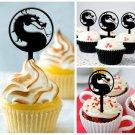 Cp177 cupcake toppers mortal kombat Package : 10 pcs