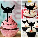 Cp194 cupcake toppers viking hat Package : 10 pcs