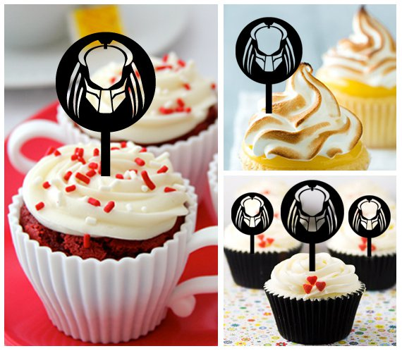 Cp266 cupcake toppers predator Package : 10 pcs