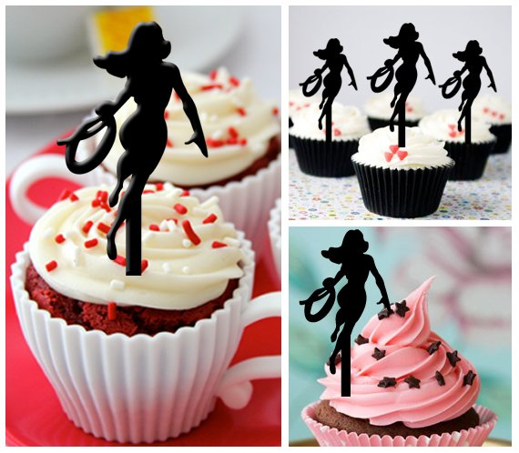 Cp269 cupcake toppers wonder woman Package : 10 pcs