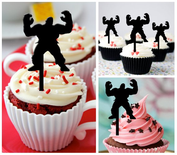Cp271 cupcake toppers The Hulk Package : 10 pcs