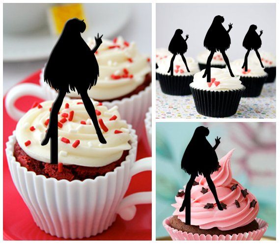 Cp307 cupcake toppers sailor moon Package : 10 pcs