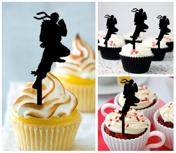 Cp340 cupcake toppers Street Fighter Package : 10 pcs
