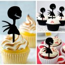 Cp386 cupcake toppers nightmare before christmas Package : 10 pcs