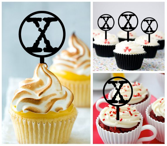 Cp393 cupcake toppers The X Files Package : 10 pcs